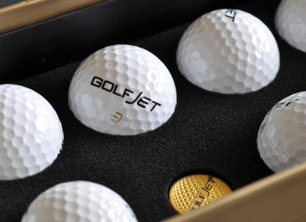 golfjet, jetpack, golfballs, golf gift set
